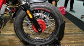 Moto Guzzi V7 II Racer front wheel at Thai Motor Expo.