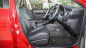 New Toyota Corolla Altis 2.0V (facelift) front seats