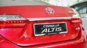 New Toyota Corolla Altis 2.0V (facelift) rear fascia
