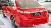 New Toyota Corolla Altis 2.0V (facelift) rear three quarters