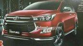 New Toyota Innova Venturer front leaked