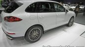 Porsche Cayenne S E-Hybrid Platinum Edition rear three quarters at 2016 Thai Motor Expo