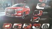 Toyota Innova Venturer feature list