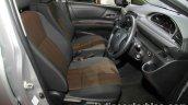 Toyota Sienta front seats at 2016 Thai Motor Expo