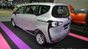 Toyota Sienta rear three quarters at 2016 Thai Motor Expo