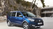 2017 Dacia Lodgy Stepway front three quarter introduced