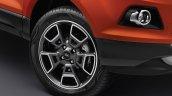 2017 Ford EcoSport Platinum Edition 17-inch diamond cut alloy wheel