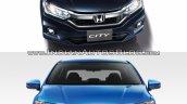 2017 Honda City vs 2014 Honda City front Old vs New