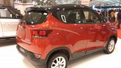 2017 Mahindra KUV100 anniversary edition dual tone rear three quarter