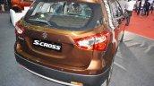 2017 Maruti S-Cross rear three quarters at Surat International Auto Expo 2017