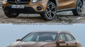 2017 Mercedes GLA vs. 2014 Mercedes GLA front three quarters left side second image
