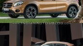 2017 Mercedes GLA vs. 2014 Mercedes GLA front three quarters left side