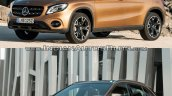 2017 Mercedes GLA vs. 2014 Mercedes GLA front three quarters
