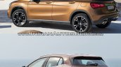 2017 Mercedes GLA vs. 2014 Mercedes GLA rear three quarters left side