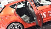 2017 Seat Leon rear seats at 2017 Vienna Auto Show