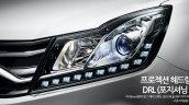 2017 SsangYong Korando C headlamps