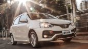 2017 Toyota Etios (Facelift) front quarter launched in Brazil