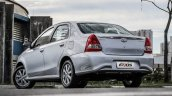 2017 Toyota Etios (Facelift) rear quarter launched in Brazil