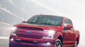 2018 Ford F-150 (facelift) headlamps on front three quarters