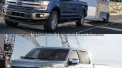 2018 Ford F-150 vs. 2015 Ford F-150 front three quarters left side