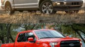 2018 Ford F-150 vs. 2015 Ford F-150 front three quarters right side