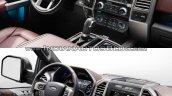 2018 Ford F-150 vs. 2015 Ford F-150 interior