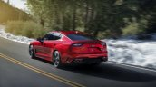 2018 Kia Stinger rear three quarters in motion