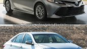 2018 Toyota Camry vs. 2015 Toyota Camry front three quarters