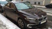BMW 1 Series Sedan front three quarters Germany spy shot