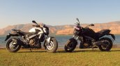 Bajaj Dominar 400 Moon White and Twilight Plum