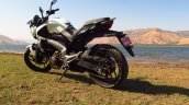Bajaj Dominar 400 Moon White rear three quarter