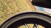 Bajaj Dominar 400 rear tyre MRF badging