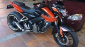Bajaj Pulsar 200NS modified tyre front three quater