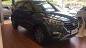 Brazil-spec Hyundai Creta front three quarter in showrooms