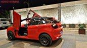 Custom Maruti Baleno rear three quarter with Lambo-style doors