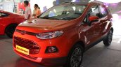 Ford EcoSport Platinum Edition front three quarters at Surat International Auto Expo 2017