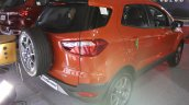 Ford EcoSport Platinum Edition rear three quarters at Surat International Auto Expo 2017