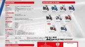 Hero Maestro Edge 2017 brochure specs