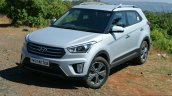 Hyundai Creta 1.6 Petrol Automatic front three quarter left Review