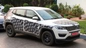 India-spec Jeep Compass front three quarter spied