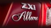 Limited Edition Maruti Swift Dzire Allure badge press image