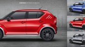 Maruti Ignis accessories body side moulding and exterior styling kit