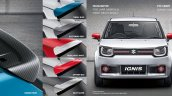 Maruti Ignis accessories rear spoilers, highlighter and door mirror covers