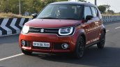 Maruti Ignis front quarter on road First Drive Review