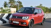 Maruti Ignis front three quarter dynamic First Drive Review