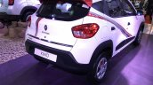 Renault Kwid Live For More Edition rear three quarter at APS 2017