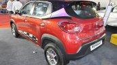 Renault Kwid (accessorised) rear three quarters at Surat International Auto Expo 2017