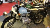 Royal Enfield Classic 350 Redditch series Redditch Blue front three quarters left side at 2017 Surat International Auto Expo