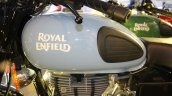 Royal Enfield Redditch series Redditch Blue fuel tank at Surat International Auto Expo 2017