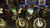 Royal Enfield Redditch series Redditch Green and Redditch Blue at Surat International Auto Expo 2017